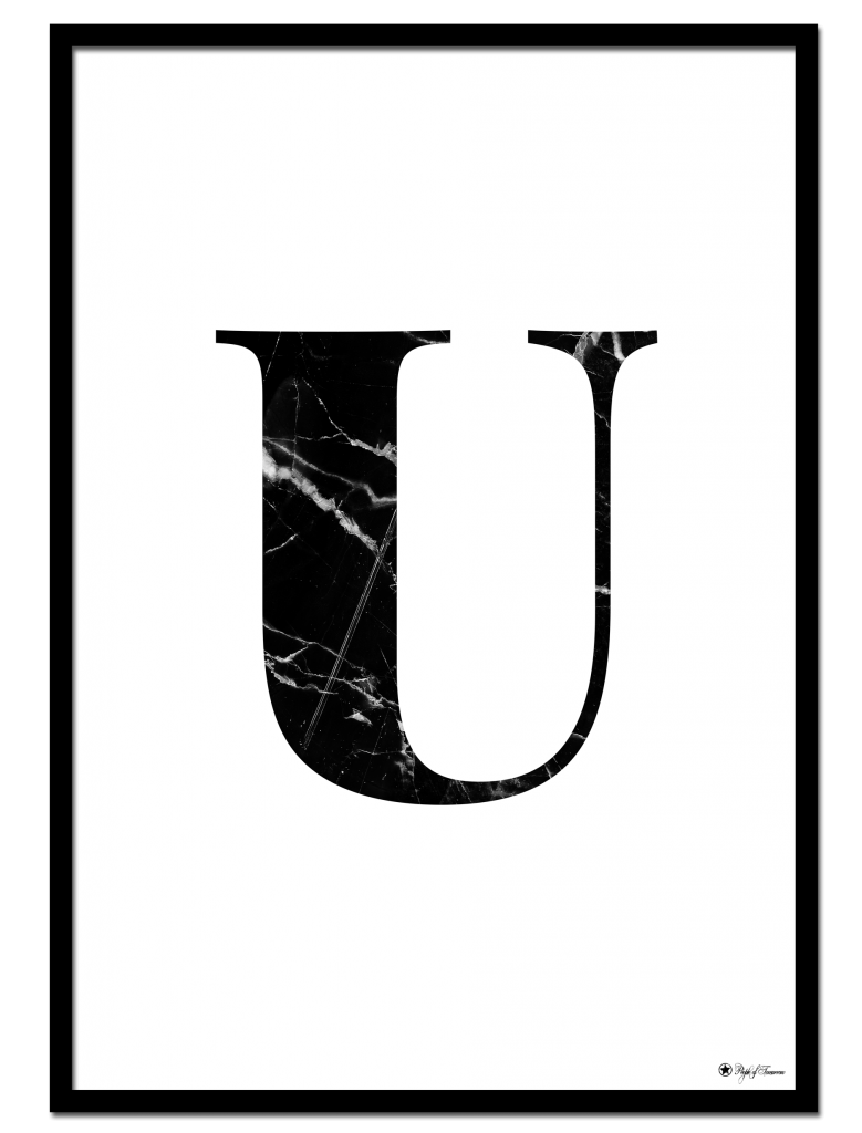 Home Marble Letters U Letter