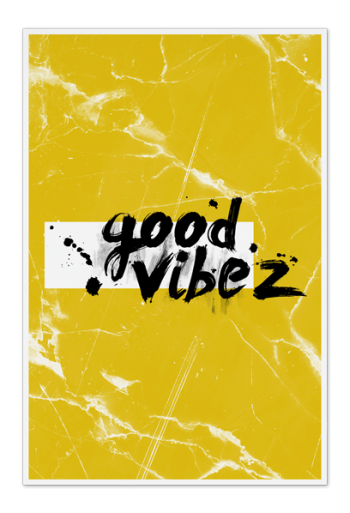 Good Vibez Art Card |Art doesn't have to be big to make a big impression. Our art cards are about the size of postcards, but they'll brighten up any room with their eye-catching designs. With a selection of unique art work printed on high quality paper, these are a versatile type of art for all sorts of occasions.