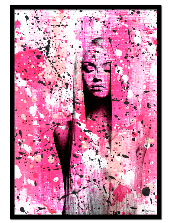 Venus poster | Abstract art print made from acrylic paint with digital modifications. By combining analogue and digital techniques we have created a special edition of poster art for your home. These art prints are painted with acrylic paint on canvas and modified digitally by our designteam.