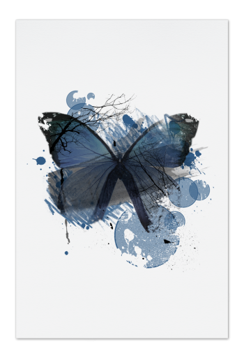 Blue Butterfly Art Card |Art doesn't have to be big to make a big impression. Our art cards are about the size of postcards, but they'll brighten up any room with their eye-catching designs. With a selection of unique art work printed on high quality paper, these are a versatile type of art for all sorts of occasions.