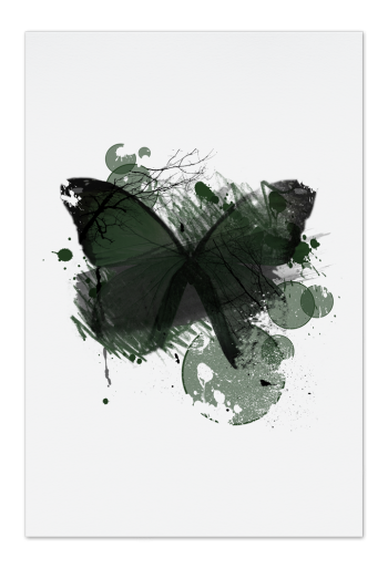 Green Butterfly Art Card |Art doesn't have to be big to make a big impression. Our art cards are about the size of postcards, but they'll brighten up any room with their eye-catching designs. With a selection of unique art work printed on high quality paper, these are a versatile type of art for all sorts of occasions.