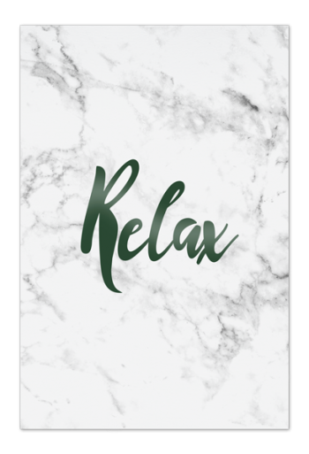 Relax Art Card |Art doesn't have to be big to make a big impression. Our art cards are about the size of postcards, but they'll brighten up any room with their eye-catching designs. With a selection of unique art work printed on high quality paper, these are a versatile type of art for all sorts of occasions.